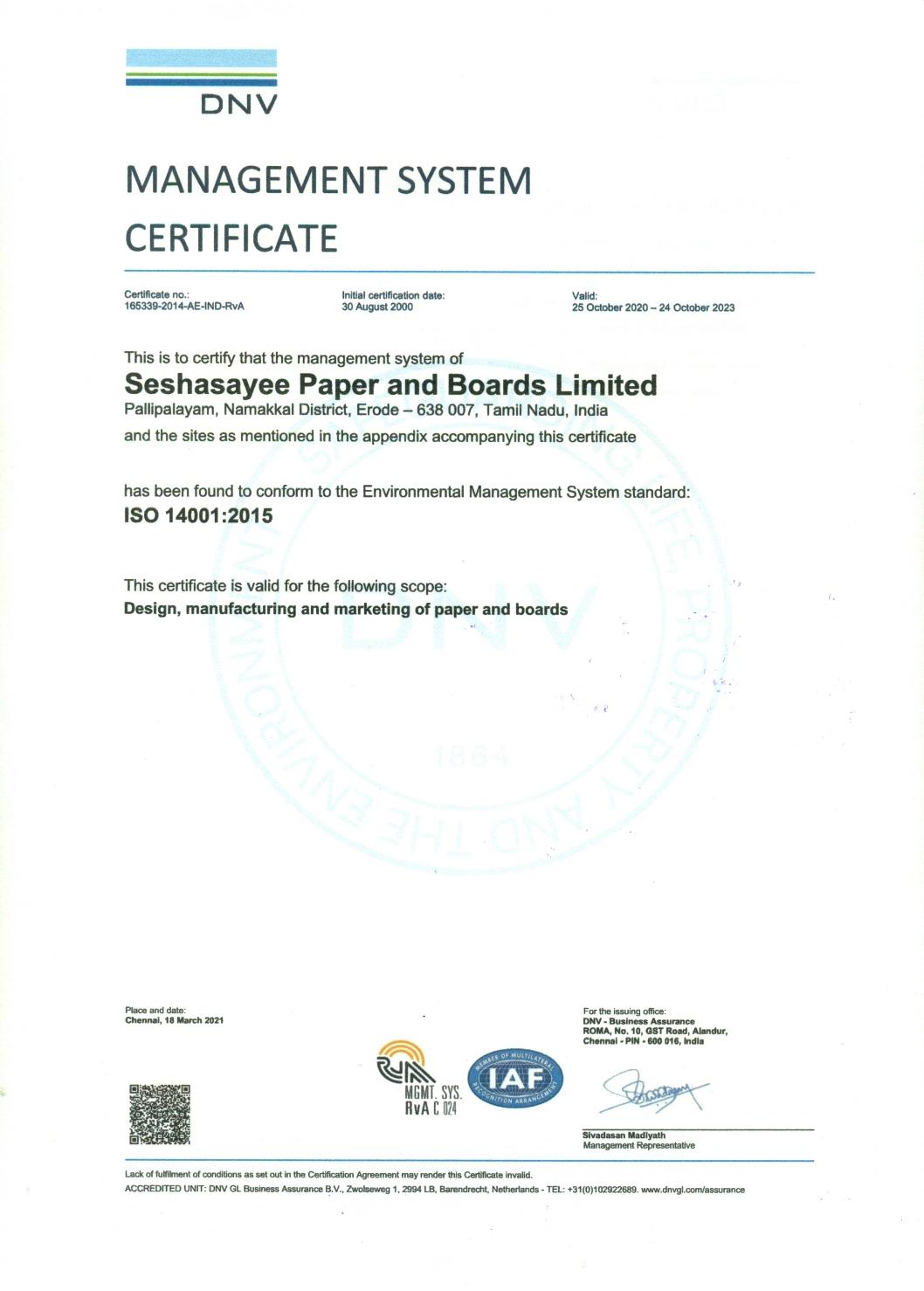 EMS - ISO 14001:2004