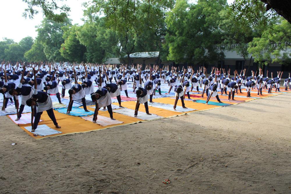 Yoga Day Celebration at SPB School
